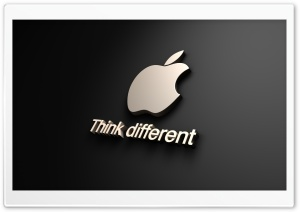 Apple Think Different HD Wide Wallpaper for Widescreen