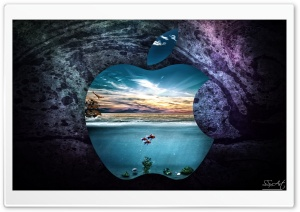 Apple-UnderWater HD Wide Wallpaper for Widescreen