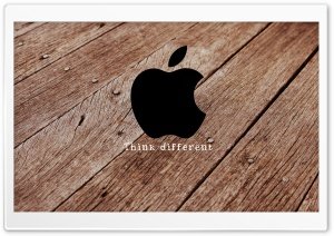 Apple Wooden HD Wide Wallpaper for Widescreen
