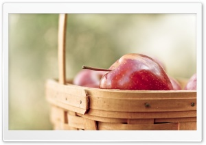 Apples Basket HD Wide Wallpaper for Widescreen