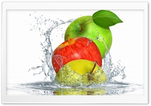 Apples Splashing Water HD Wide Wallpaper for 4K UHD Widescreen desktop & smartphone