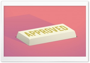Approve Button HD Wide Wallpaper for Widescreen