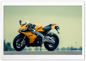 Aprilia RSV4 Yellow Motorcycle HD Wide Wallpaper for Widescreen
