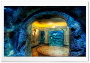 Aquarium HDR HD Wide Wallpaper for Widescreen