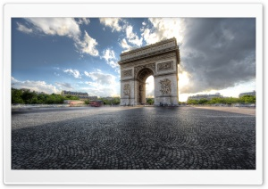 Arc De Triomphe, Paris HD Wide Wallpaper for Widescreen