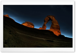 Arch Rock Night HD Wide Wallpaper for Widescreen