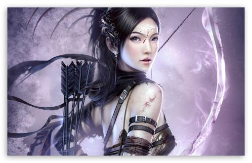 Archer Girl Fantasy 2 4k Hd Desktop Wallpaper For 4k Ultra