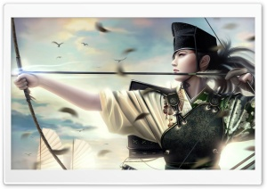 Archer Painting HD Wide Wallpaper for Widescreen