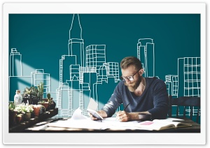 Architect at Work HD Wide Wallpaper for Widescreen