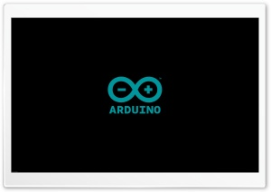 ARDUINO LOGO BLACK HD Wide Wallpaper for 4K UHD Widescreen desktop & smartphone