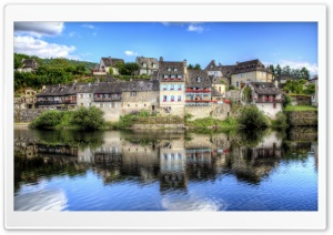 Argentat, Limousin region, France HD Wide Wallpaper for 4K UHD Widescreen desktop & smartphone