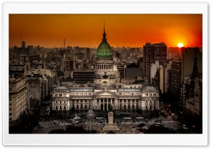Argentine National Congress Palace Buenos Aires, Argentina HD Wide Wallpaper for 4K UHD Widescreen desktop & smartphone