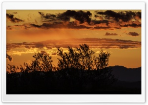 Arizona Sunset Panorama HD Wide Wallpaper for Widescreen