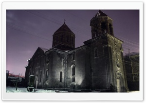 Armenia, Gyumri, Surb Nshan Church HD Wide Wallpaper for 4K UHD Widescreen desktop & smartphone