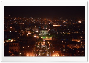 Armenia, Yerevan, At Night HD Wide Wallpaper for Widescreen