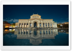 Armenia, Yerevan, Building Reflection in Water, Hayk Barseghyans HD Wide Wallpaper for 4K UHD Widescreen desktop & smartphone