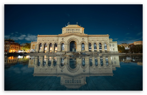 Armenia, Yerevan, Building Reflection in Water, Hayk Barseghyans HD wallpaper for Wide 16:10 5:3 Widescreen WHXGA WQXGA WUXGA WXGA WGA ; HD 16:9 High Definition WQHD QWXGA 1080p 900p 720p QHD nHD ; UHD 16:9 WQHD QWXGA 1080p 900p 720p QHD nHD ; Standard 3:2 Fullscreen DVGA HVGA HQVGA devices ( Apple PowerBook G4 iPhone 4 3G 3GS iPod Touch ) ; Tablet 1:1 ; Mobile 5:3 3:2 16:9 - WGA DVGA HVGA HQVGA devices ( Apple PowerBook G4 iPhone 4 3G 3GS iPod Touch ) WQHD QWXGA 1080p 900p 720p QHD nHD ;