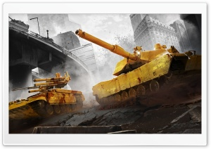 Armored Warfare City Battle HD Wide Wallpaper for Widescreen