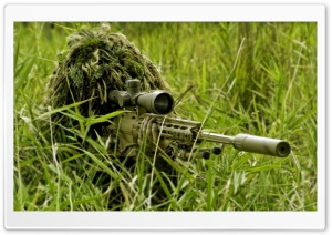 Army Sniper HD Wide Wallpaper for Widescreen