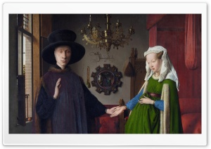 Arnolfini Portrait By Jan Van Eyck HD Wide Wallpaper for 4K UHD Widescreen desktop & smartphone