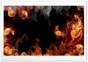 Artistic Fire Elemental HD Wide Wallpaper for Widescreen