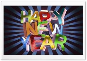 Artistic New Year HD Wide Wallpaper for Widescreen