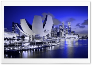 ArtScience Museum, Marina Bay, Singapore HD Wide Wallpaper for 4K UHD Widescreen desktop & smartphone