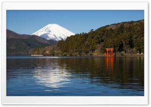 Ashinoko Lake HD Wide Wallpaper for Widescreen