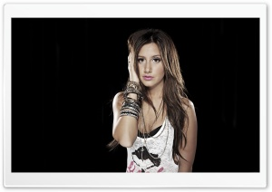 Ashley Tisdale Brown Hair HD Wide Wallpaper for Widescreen