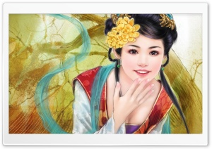 Asian Art HD Wide Wallpaper for Widescreen