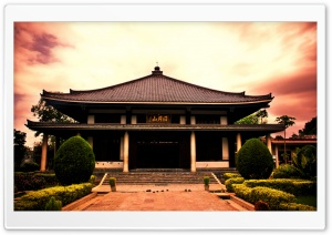 Asian Temple HD Wide Wallpaper for Widescreen