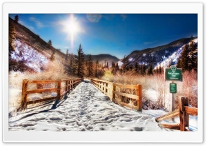 Aspen Trail, Winter HD Wide Wallpaper for Widescreen