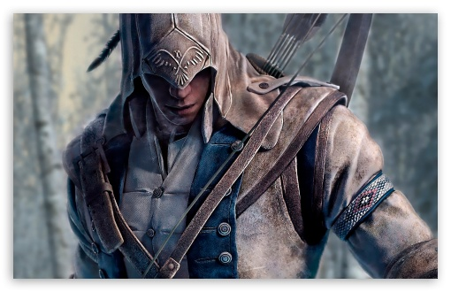 Assassin's Creed 3 Connor HD wallpaper for Wide 16:10 5:3 Widescreen WHXGA WQXGA WUXGA WXGA WGA ; HD 16:9 High Definition WQHD QWXGA 1080p 900p 720p QHD nHD ; Standard 4:3 5:4 3:2 Fullscreen UXGA XGA SVGA QSXGA SXGA DVGA HVGA HQVGA devices ( Apple PowerBook G4 iPhone 4 3G 3GS iPod Touch ) ; Tablet 1:1 ; iPad 1/2/Mini ; Mobile 4:3 5:3 3:2 16:9 5:4 - UXGA XGA SVGA WGA DVGA HVGA HQVGA devices ( Apple PowerBook G4 iPhone 4 3G 3GS iPod Touch ) WQHD QWXGA 1080p 900p 720p QHD nHD QSXGA SXGA ;