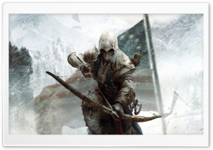 Assassin's Creed 3 Connor Bow HD Wide Wallpaper for 4K UHD Widescreen desktop & smartphone