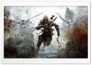 Assassin's Creed 3 Connor Free Running HD Wide Wallpaper for 4K UHD Widescreen desktop & smartphone
