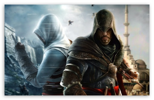 Assassins Creed : Revelations HD wallpaper for Standard 4:3 5:4 Fullscreen UXGA XGA SVGA QSXGA SXGA ; Wide 16:10 5:3 Widescreen WHXGA WQXGA WUXGA WXGA WGA ; HD 16:9 High Definition WQHD QWXGA 1080p 900p 720p QHD nHD ; Other 3:2 DVGA HVGA HQVGA devices ( Apple PowerBook G4 iPhone 4 3G 3GS iPod Touch ) ; Mobile VGA WVGA iPhone iPad PSP Phone - VGA QVGA Smartphone ( PocketPC GPS iPod Zune BlackBerry HTC Samsung LG Nokia Eten Asus ) WVGA WQVGA Smartphone ( HTC Samsung Sony Ericsson LG Vertu MIO ) HVGA Smartphone ( Apple iPhone iPod BlackBerry HTC Samsung Nokia ) Sony PSP Zune HD Zen ;