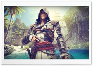 Assassins Creed Black Flag - Edward Kenway HD Wide Wallpaper for Widescreen