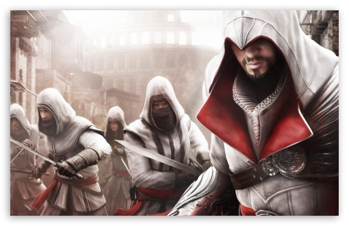 Assassin's Creed Brotherhood HD wallpaper for Wide 16:10 5:3 Widescreen WHXGA WQXGA WUXGA WXGA WGA ; HD 16:9 High Definition WQHD QWXGA 1080p 900p 720p QHD nHD ; Standard 4:3 5:4 3:2 Fullscreen UXGA XGA SVGA QSXGA SXGA DVGA HVGA HQVGA devices ( Apple PowerBook G4 iPhone 4 3G 3GS iPod Touch ) ; Tablet 1:1 ; iPad 1/2/Mini ; Mobile 4:3 5:3 3:2 16:9 5:4 - UXGA XGA SVGA WGA DVGA HVGA HQVGA devices ( Apple PowerBook G4 iPhone 4 3G 3GS iPod Touch ) WQHD QWXGA 1080p 900p 720p QHD nHD QSXGA SXGA ; Dual 4:3 5:4 UXGA XGA SVGA QSXGA SXGA ;