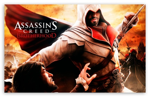 Assassin's Creed Brotherhood HD wallpaper for Wide 16:10 5:3 Widescreen WHXGA WQXGA WUXGA WXGA WGA ; HD 16:9 High Definition WQHD QWXGA 1080p 900p 720p QHD nHD ; Standard 4:3 5:4 3:2 Fullscreen UXGA XGA SVGA QSXGA SXGA DVGA HVGA HQVGA devices ( Apple PowerBook G4 iPhone 4 3G 3GS iPod Touch ) ; iPad 1/2/Mini ; Mobile 4:3 5:3 3:2 16:9 5:4 - UXGA XGA SVGA WGA DVGA HVGA HQVGA devices ( Apple PowerBook G4 iPhone 4 3G 3GS iPod Touch ) WQHD QWXGA 1080p 900p 720p QHD nHD QSXGA SXGA ;