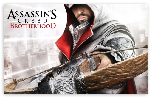 Assassin's Creed Brotherhood HD wallpaper for Wide 16:10 5:3 Widescreen WHXGA WQXGA WUXGA WXGA WGA ; HD 16:9 High Definition WQHD QWXGA 1080p 900p 720p QHD nHD ; Standard 4:3 3:2 Fullscreen UXGA XGA SVGA DVGA HVGA HQVGA devices ( Apple PowerBook G4 iPhone 4 3G 3GS iPod Touch ) ; iPad 1/2/Mini ; Mobile 4:3 5:3 3:2 16:9 - UXGA XGA SVGA WGA DVGA HVGA HQVGA devices ( Apple PowerBook G4 iPhone 4 3G 3GS iPod Touch ) WQHD QWXGA 1080p 900p 720p QHD nHD ;