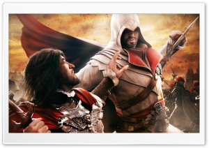 Assassin's Creed Brotherhood Fight HD Wide Wallpaper for Widescreen