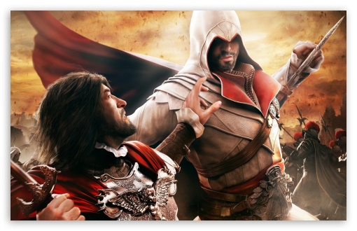 Assassin's Creed Brotherhood Fight HD wallpaper for Wide 16:10 5:3 Widescreen WHXGA WQXGA WUXGA WXGA WGA ; HD 16:9 High Definition WQHD QWXGA 1080p 900p 720p QHD nHD ; Standard 4:3 5:4 3:2 Fullscreen UXGA XGA SVGA QSXGA SXGA DVGA HVGA HQVGA devices ( Apple PowerBook G4 iPhone 4 3G 3GS iPod Touch ) ; Tablet 1:1 ; iPad 1/2/Mini ; Mobile 4:3 5:3 3:2 16:9 5:4 - UXGA XGA SVGA WGA DVGA HVGA HQVGA devices ( Apple PowerBook G4 iPhone 4 3G 3GS iPod Touch ) WQHD QWXGA 1080p 900p 720p QHD nHD QSXGA SXGA ;