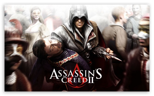 Assassin's Creed II HD wallpaper for Wide 5:3 Widescreen WGA ; HD 16:9 High Definition WQHD QWXGA 1080p 900p 720p QHD nHD ; Mobile 5:3 16:9 - WGA WQHD QWXGA 1080p 900p 720p QHD nHD ;