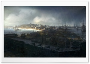 Assassin's Creed III Boston HD Wide Wallpaper for Widescreen