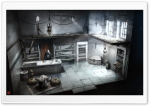 Assassins Creed Interior Building Concept Art HD Wide Wallpaper for Widescreen