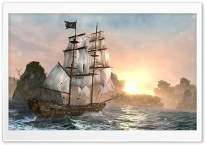 Assassin's Creed IV Black Flag Ship HD Wide Wallpaper for Widescreen