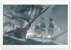 Assassins Creed IV Black Flag Ships HD Wide Wallpaper for Widescreen