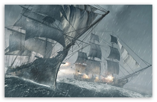 Assassins Creed IV Black Flag Ships HD wallpaper for Wide 16:10 5:3 Widescreen WHXGA WQXGA WUXGA WXGA WGA ; HD 16:9 High Definition WQHD QWXGA 1080p 900p 720p QHD nHD ; Mobile 5:3 16:9 - WGA WQHD QWXGA 1080p 900p 720p QHD nHD ;