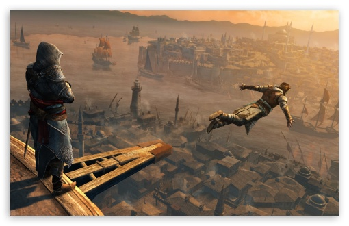 Assassin's Creed Jump HD wallpaper for Wide 16:10 5:3 Widescreen WHXGA WQXGA WUXGA WXGA WGA ; HD 16:9 High Definition WQHD QWXGA 1080p 900p 720p QHD nHD ; UHD 16:9 WQHD QWXGA 1080p 900p 720p QHD nHD ; Standard 3:2 Fullscreen DVGA HVGA HQVGA devices ( Apple PowerBook G4 iPhone 4 3G 3GS iPod Touch ) ; iPad 1/2/Mini ; Mobile 4:3 5:3 3:2 16:9 - UXGA XGA SVGA WGA DVGA HVGA HQVGA devices ( Apple PowerBook G4 iPhone 4 3G 3GS iPod Touch ) WQHD QWXGA 1080p 900p 720p QHD nHD ; Dual 5:4 QSXGA SXGA ;