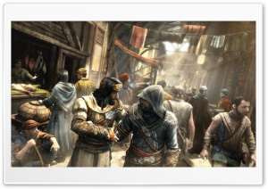 Assassin's Creed Market Scene HD Wide Wallpaper for Widescreen